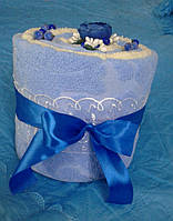 Оригинальный подарок Торт из полотенец ,махровые банные полотенца 2 шт Турция