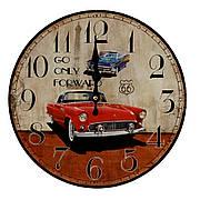 Часы настенные «Ретро автомобили», круглые, 34 см, МДФ