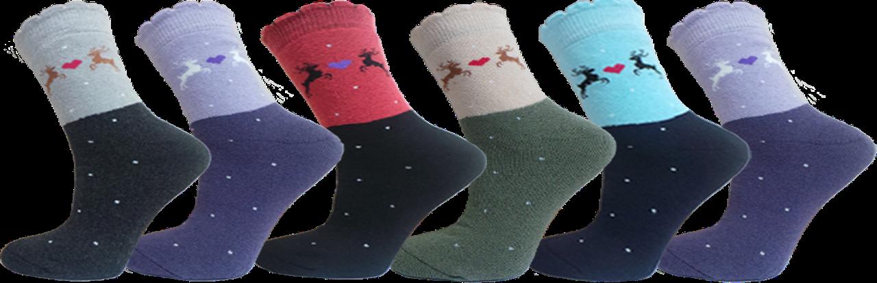 """Шкарпеки дитячі для дівчат махра олені """"lomani"""""""
