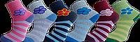 """Шкарпетки дитячі для дівчат махра квітка полоска """"lomani"""""""