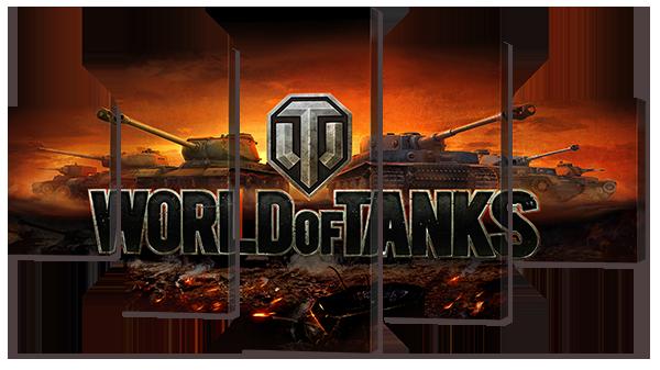Модульная картина Interno Холст World of tanks 108х60см (R751S)