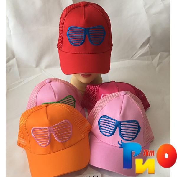 Детская  летняя кепка (сетка) для девочек р-р 52 (5 ед в уп) NA_1241