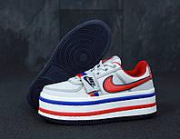 """Кроссовки женские кожаные Nike Vandal m2k White/red/ """"Белые с красным"""" р. 36-40"""
