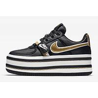 """Кроссовки женские кожаные Nike Vandal m2k Black/Gold """"Черные с золотым"""" р. 36-40"""