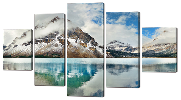 Модульная картина Interno Эко кожа Горное озеро 158х90см (А923XL)