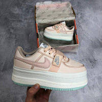 """Кроссовки женские кожаные Nike Vandal m2k """"Пудровые с мятным"""" р. 36-40, фото 1"""