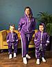 Костюм спортивный мама/дочка/сын. Ткань дайвинг, размер мама С-М, М-Л, фото 2