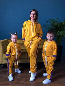 Костюм спортивный мама/дочка/сын. Ткань дайвинг, Размер дочка/сын 86-92, 98-104, 110-116