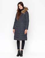 Зимняя женская куртка 9615 серая 50