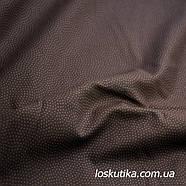 49012 Горошек на темном коричневом фоне. Ткани для шитья и рукоделия и для изделий ручной работы, пэчворка., фото 2