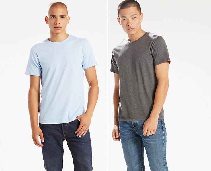 Комплект футболок Levis  (2 шт) - Dress Blues / Striped Marshmallow