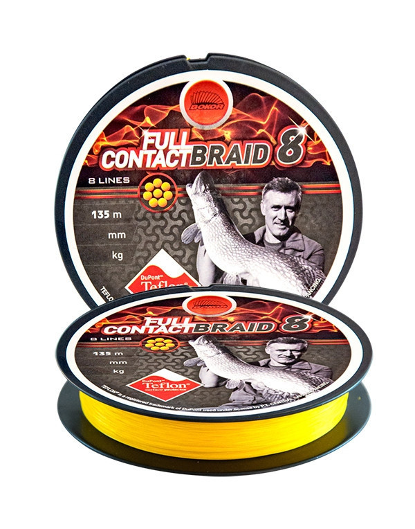 Шнур Energofish Bokor Full Contact X8 Braid Teflon Coated Yellow 135 м 0.14 мм 8.1 кг (30990014)
