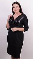 Виагра. Элегантное платье для пышных дам. Черный.58-60, 62-64