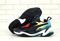 """Кроссовки мужские/женские кожаные Puma Thunder Spectra """"Черные"""" р. 36-45, фото 1"""