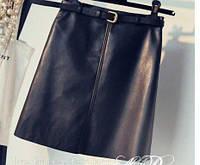 Мини юбка искуственная кожа, фото 1