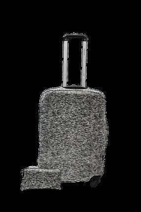 Чехол для чемодана из дайвинга NEW, размер L серый меланж, фото 2