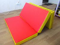 Мат гимнастический складной 150-100-10 см с 3-х частей, фото 1