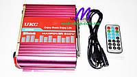 Усилитель звука UKC AV-206U USB+SD+Bluetooth, фото 4