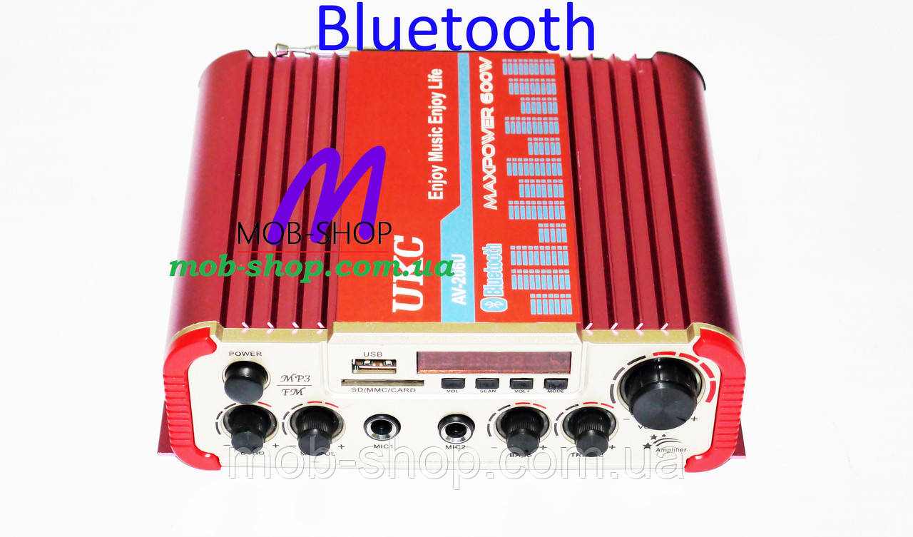 Усилитель звука UKC AV-206U USB+SD+Bluetooth
