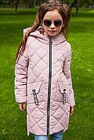 Детское демисезонное пальто для девочки (рост 116-164)
