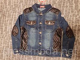 Джинсовий піджак для дівчаток S&D 4-14 років