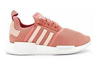 Кроссовки женские Adidas NMD Rose Pink/White (Реплика ААА класса)