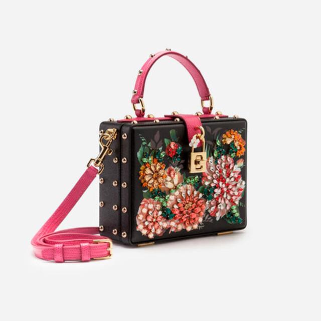 Женская сумочка Dolce&Gabbana из принтованной телячьей кожи Dolce Box