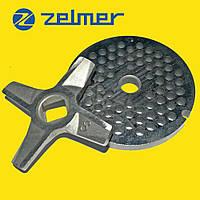 Нож для мясорубки Zelmer NR8 (двухсторонний) и решетка