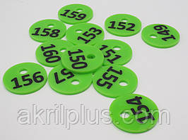 Номерок для ключів діаметр 35 мм