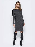 Облегающее платье со вставками на рукавах Modniy Oazis черный 90331/1, фото 1