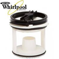 Крышка фильтра насоса стиральной машины Whirlpool 143IG10, 481936078228