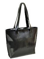Классическая женская сумка иск-кожа, цвет черный 38*32*13см