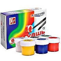 Краски для рисования Гуашь 6 цветов Луч 19С1275-08