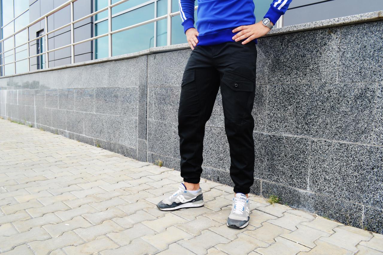 Карго брюки мужские черные ТУР Prometheus