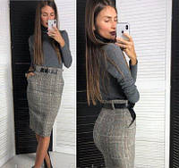 Женская юбка-карандаш из твида, фото 1