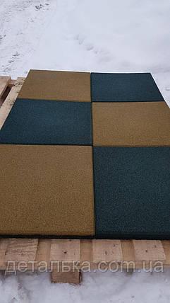 Резиновая плитка 500*500 мм. толщина 12 мм., фото 2