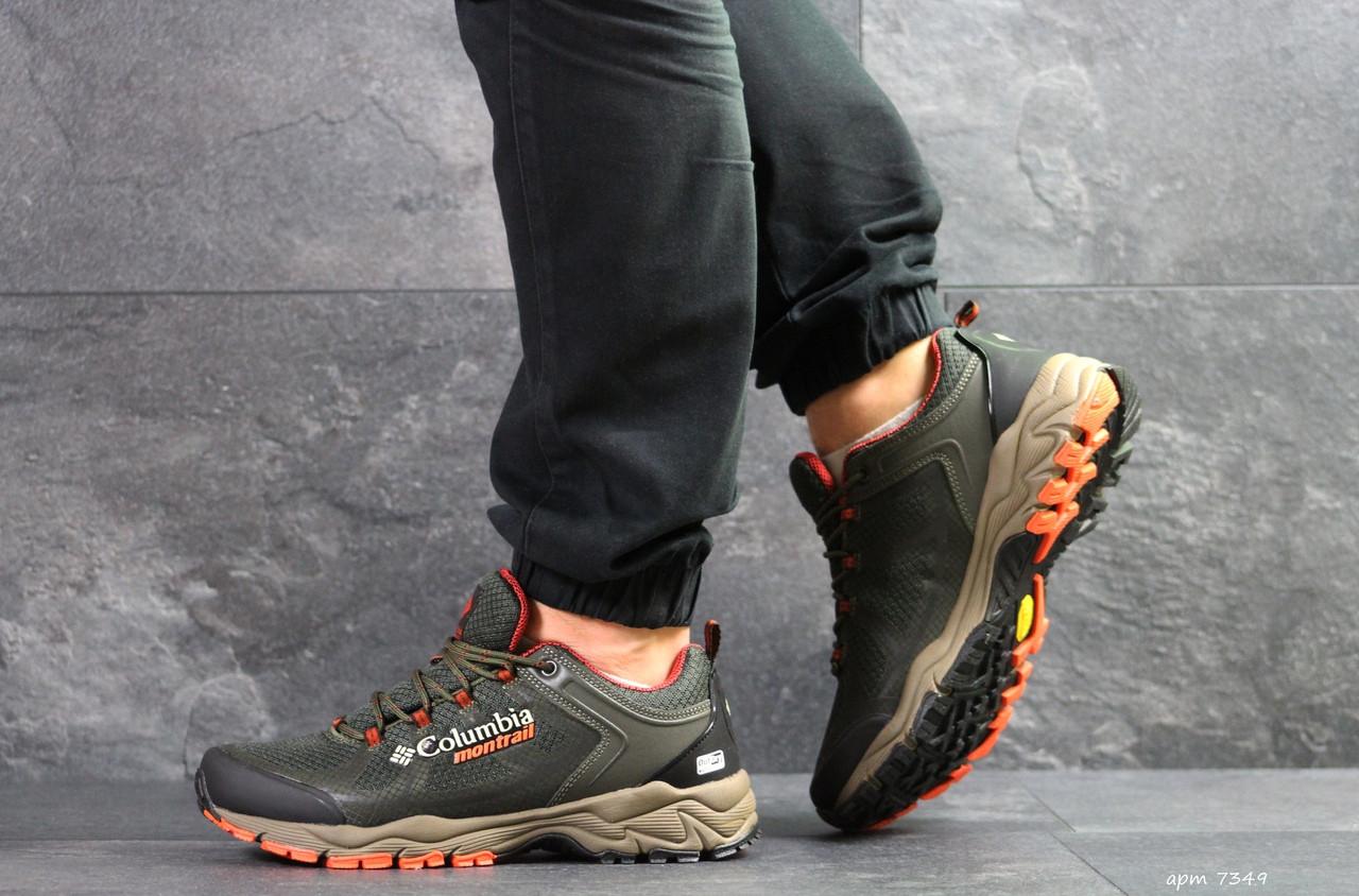 Мужские термо кроссовки Columbia Montrail,хаки 42р