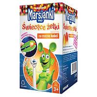 Витамины для детей Marsjanki Pro świecące żelki na mocne kości, żelki, 50 szt + świecące szczypce GRATIS
