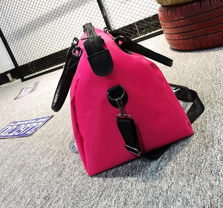 Сумка спортивная женская PINK малинового цвета, фото 7
