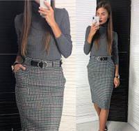 Женская юбка-карандаш из твида