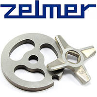 Нож и решетка для мясорубки Zelmer NR5 (двухсторонний), фото 1