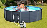 Каркасний басейн Intex 26384, (478 х 124 см) (Пісочний фільтр-насос, 4 500 л/год, сходи, тент, підстилка), фото 2