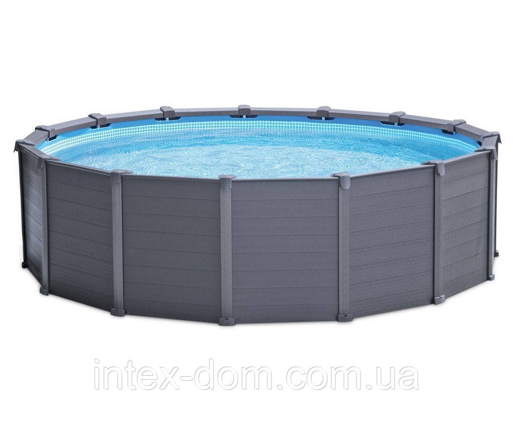 Каркасный бассейн Intex 26384, 478 х 124 см (4 500 л/ч, лестница, тент, подстилка)