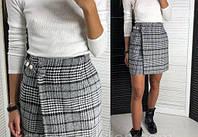 Мини юбка трапеция из твида, фото 1