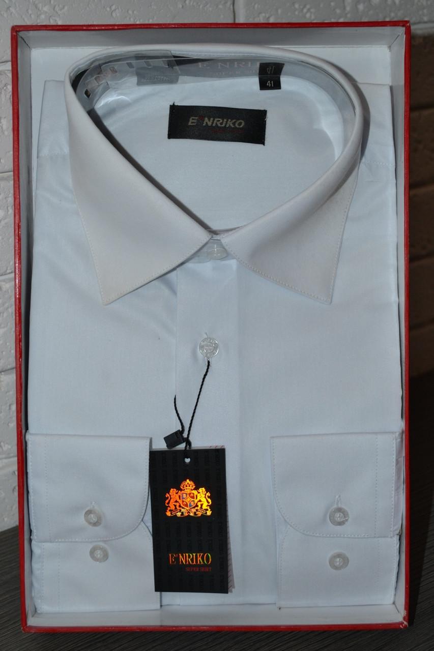 efbe06a76c1fbb9 Белая классическая мужская рубашка ENRIKO: продажа, цена в ...