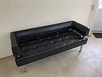 Диван офисный из кожзама Тонус черный, фото 1