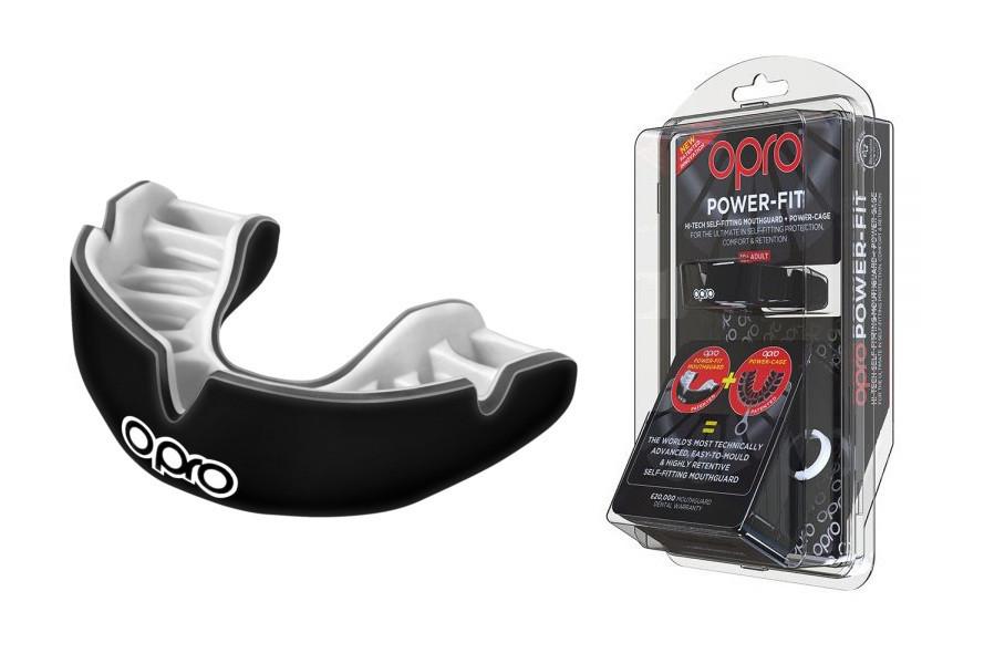 Капа OPRO Power-Fit Single Series Black/White (art.002268001)