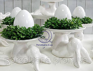 Керамическое пасхальное блюдо Ø15 см кролик-акробат Ewax