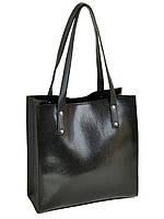 Классическая женская сумка иск-кожа, рисунок с тиснением, цвет черный 30*31*13см