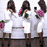 Женский костюм-двойка стежка с юбкой (расцветки), фото 5